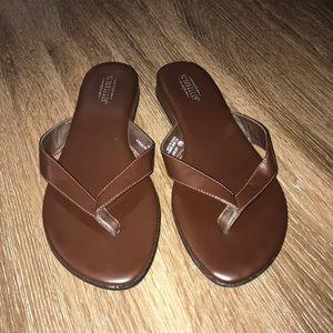 Seychelles Brown Flip Flop Sandals, Size 6.5